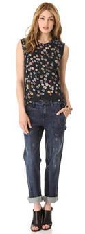 cuffed jeans model